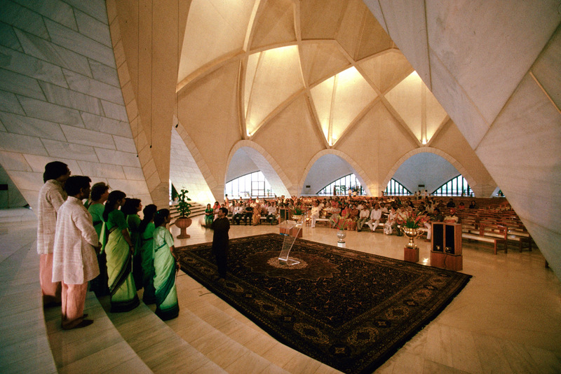 Lotus Temple from inside