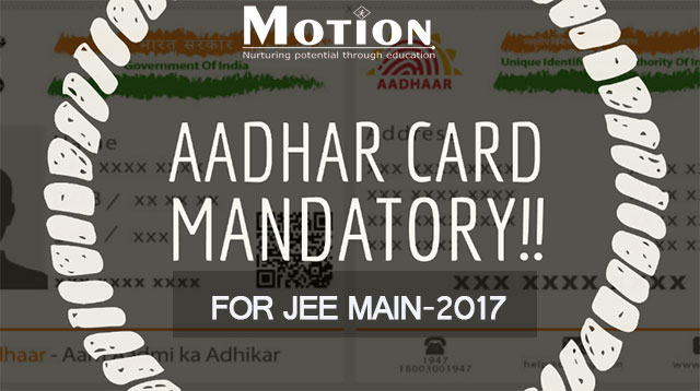Adhar-card-mandatory-for-jee-2017