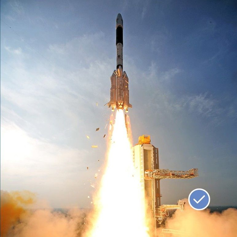 launching India's 65 satellites
